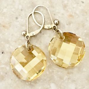 Sparkling ✨ sterling and faceted glass earrings ☀️